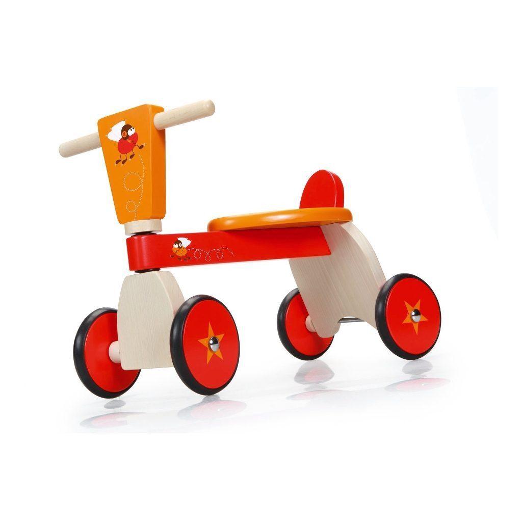 Racende Vliegen 4 Wielen Loopfiets Voorkant Scratch Speelgoed scra-6181430