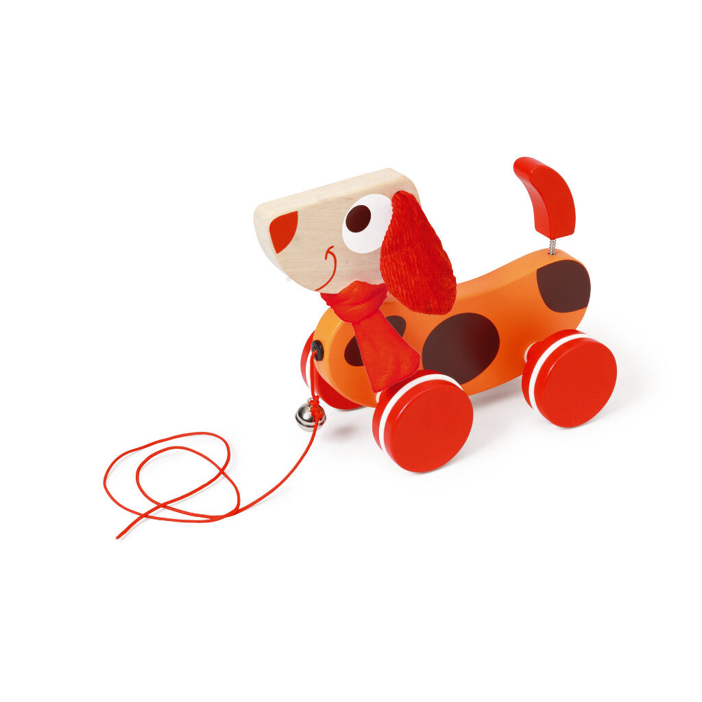 Trekfiguur Grote Hond Rood Oscar 2 Scratch Speelgoed scra-618101