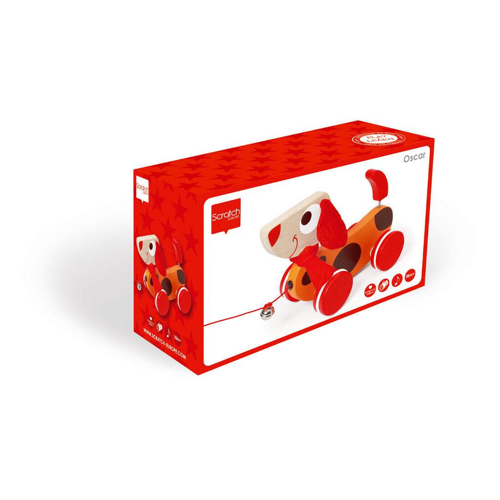 Trekfiguur Grote Hond Rood Oscar Doos Verpakking Scratch Speelgoed scra-618101