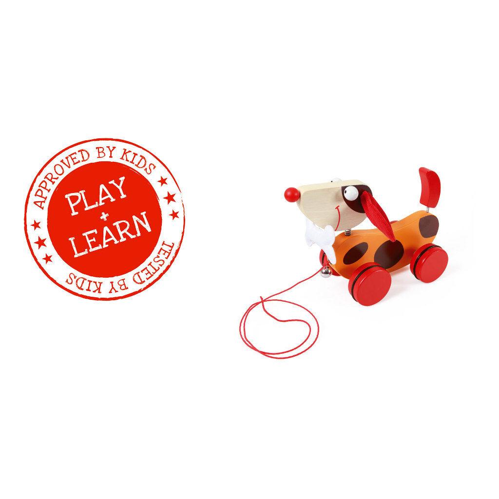 Trekfiguur Grote Hond Rood Oscar Rib Oren Scratch Speelgoed scra-618101
