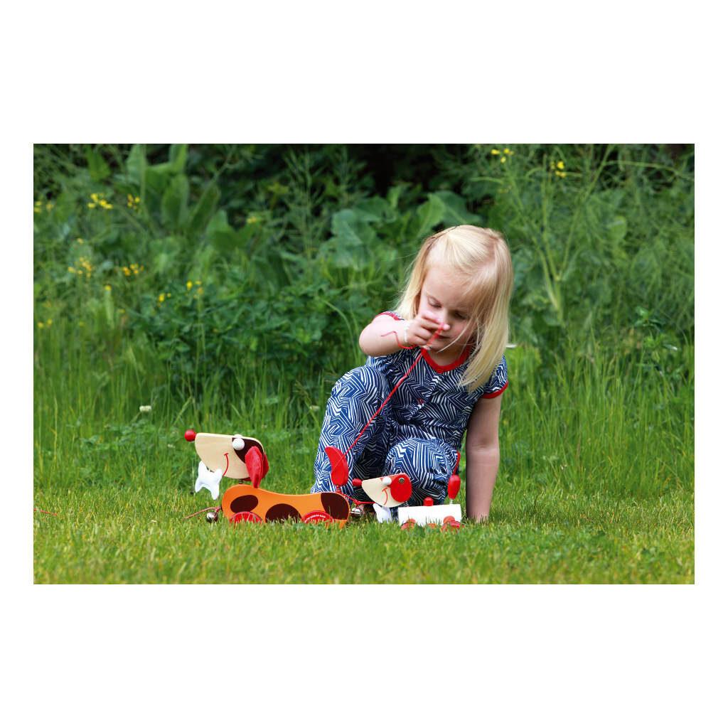 Trekfiguur Grote Hond Rood Oscar Uitlaten Binnen Buiten Scratch Speelgoed scra-618101