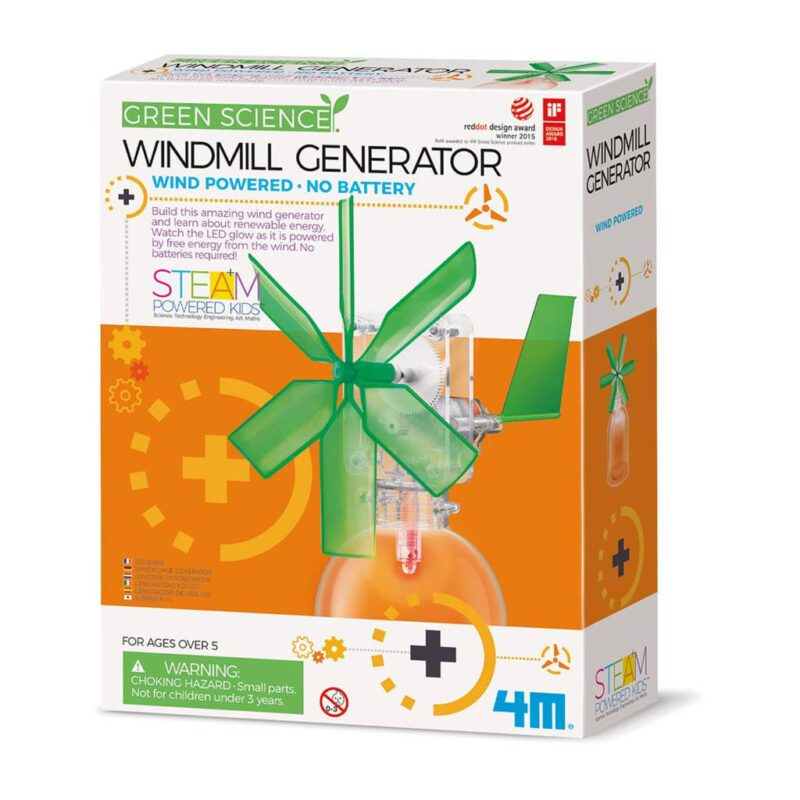 Windmolen Maken 4M Speelgoed Green Science Ontdek Knutsel QIDDIE.com 4msp-5603267