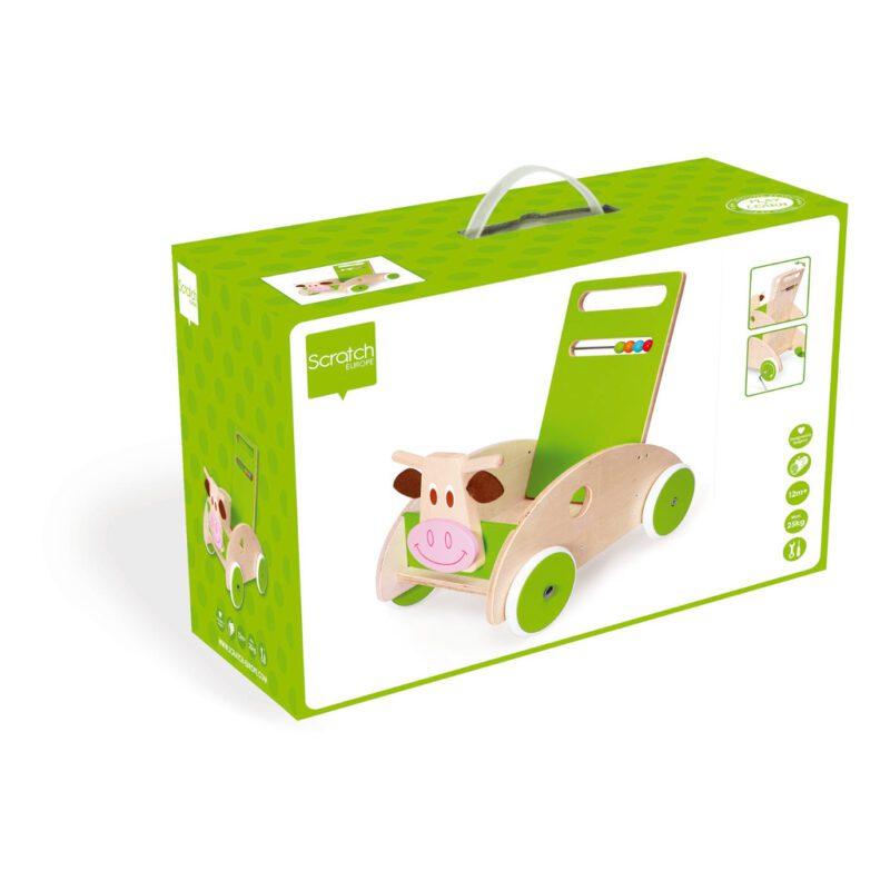 Scratch Loopwagen Koe Doos Verpakking scra-6181417