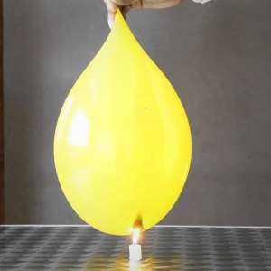 Proefjes met water ballon