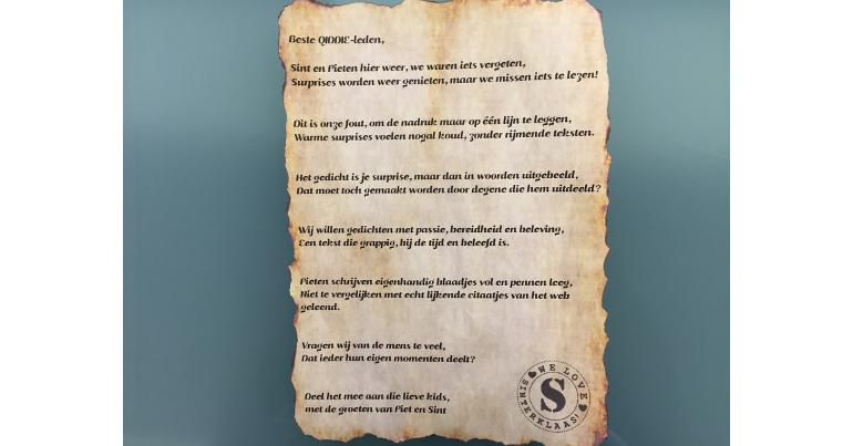 Sinterklaas Gedichten Maken Doe Het Zelf Qiddie