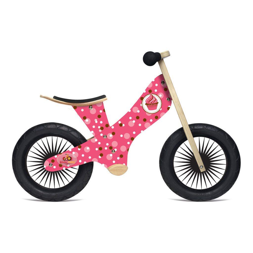 Kinderfeets Retro Cupcake Houten Loopfiets Meisje kind-kf17.11
