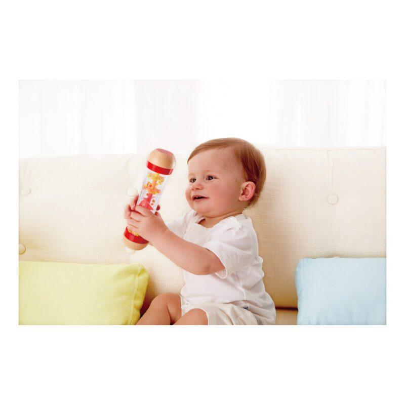 Regenbuis Rood Hape Rammelen Ontdekken Baby Peuter Hape-E0327