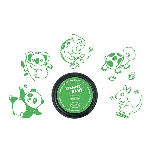 Dieren Stempels Aladine Peuter Groen Uitwasbaar Eerste Stempel alad-03817