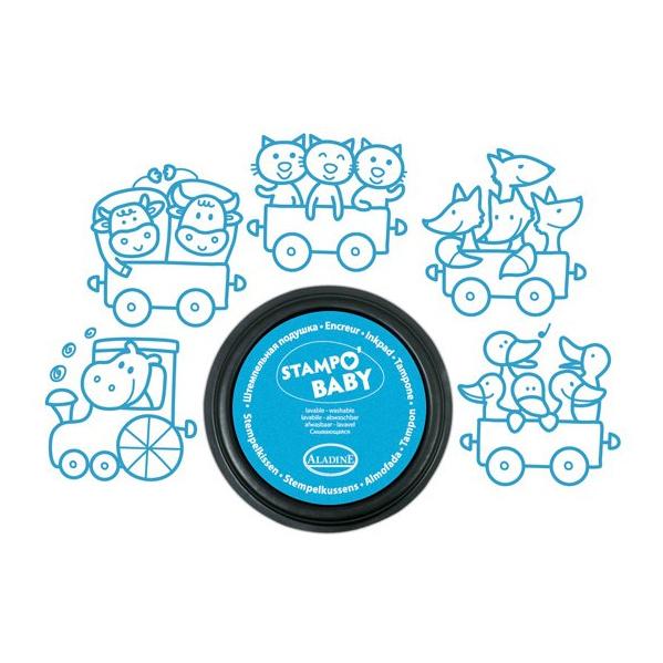 Trein Met Dieren Stempels Aladine Blauw Eerste Stempel alad-03814