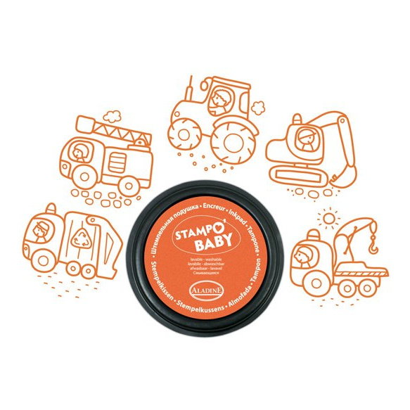 Voertuigen Stempels Aladine Oranje stempels uitwasbaar alad-03808