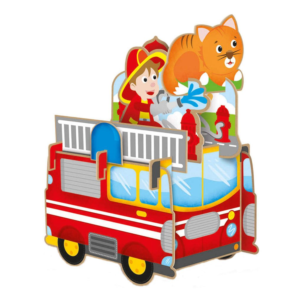 De Brandweer Boekje + 3D Puzzel Voorbeeld lant-886279
