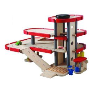 Plan Toys Garage 6227 3 Zijde Plan Toys Plan-4006227