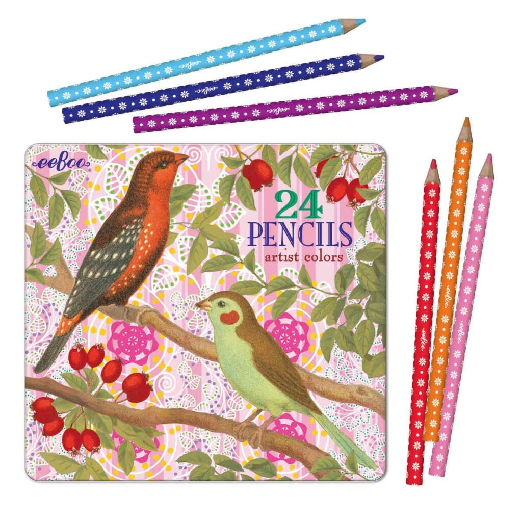 Eeboo Colored Pencils Vogels Besjes
