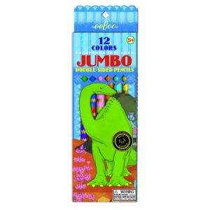 Eeboo Jumbo Pencils Tweezijdig Dino