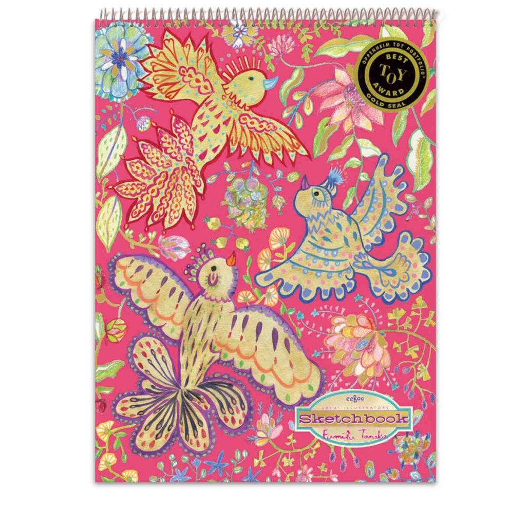 Schetsblok Gold Birds Eeboo Craft