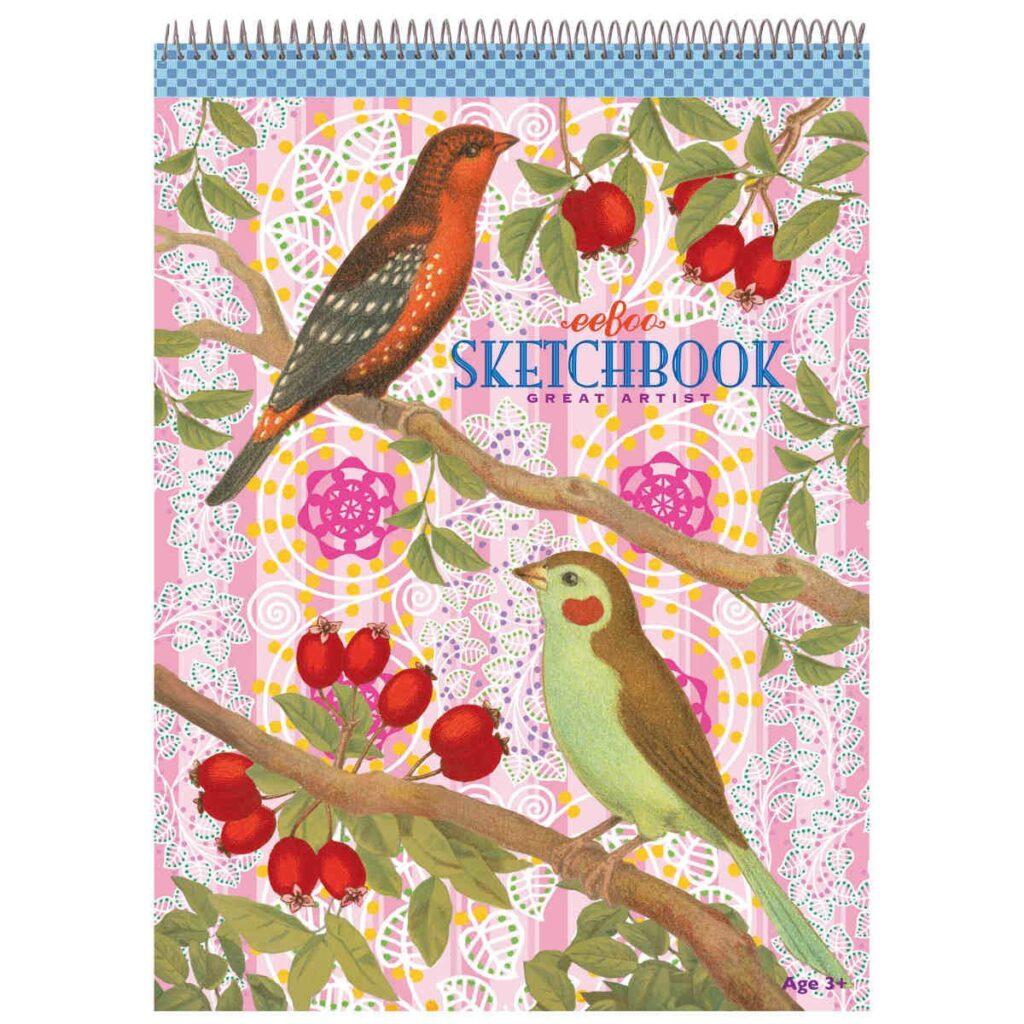 Schetsblok Vogels Besjes Eeboo Craft