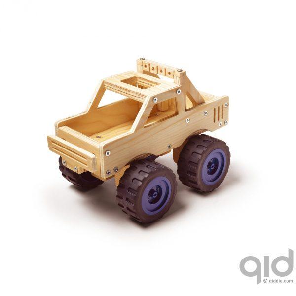 Houten monster truck maken kopen qiddie for Houten vijverbak maken