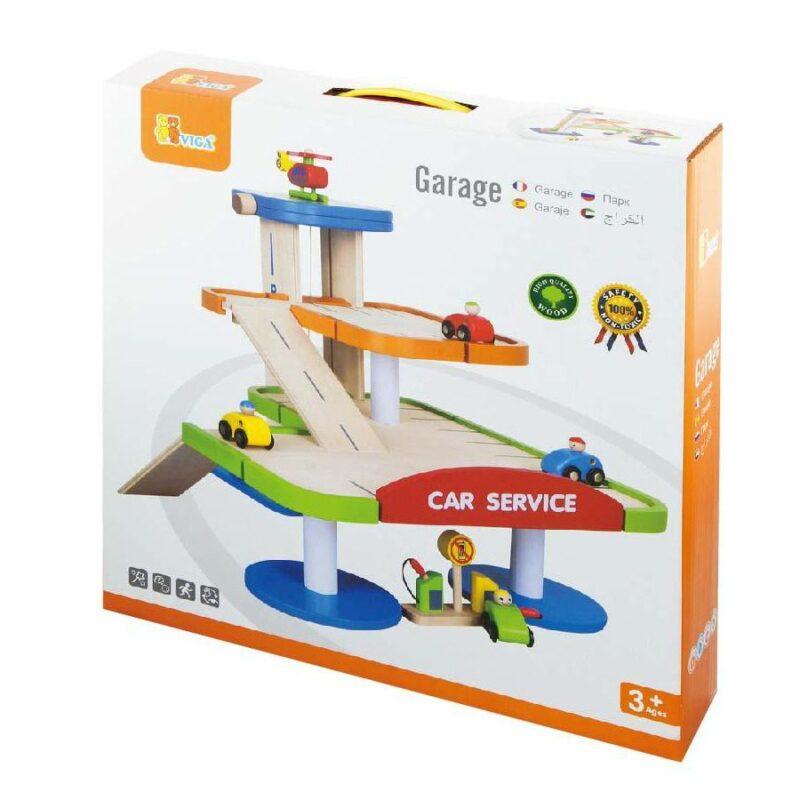 Viga Toys Garage Incl. 4 Voertuigen