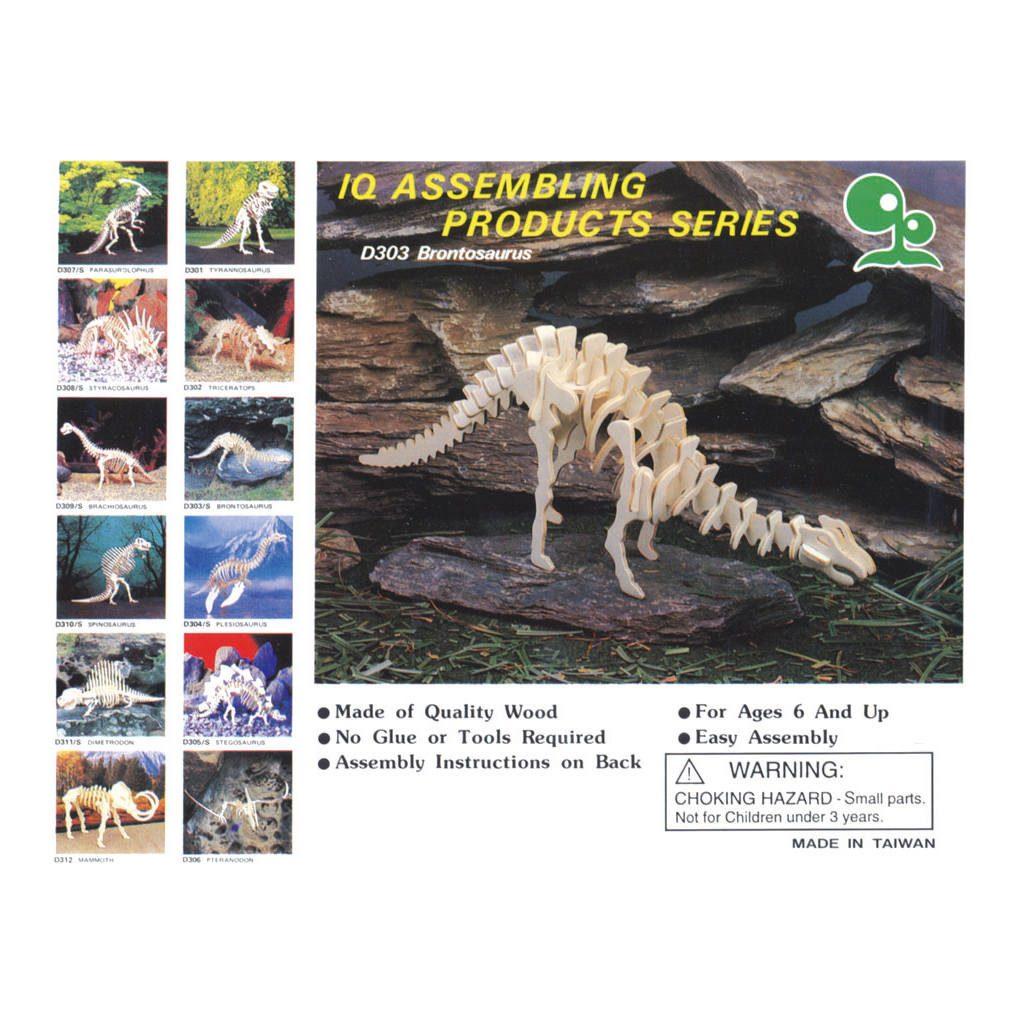 Brontosaurus Naturel Constructie Kit 3D