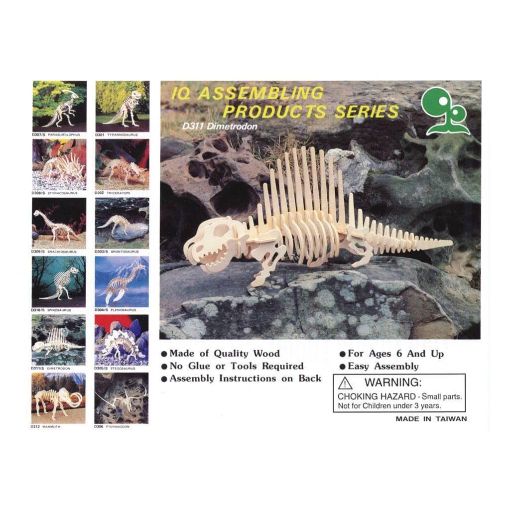 Dimetrodon Naturel Constructie Kit 3D