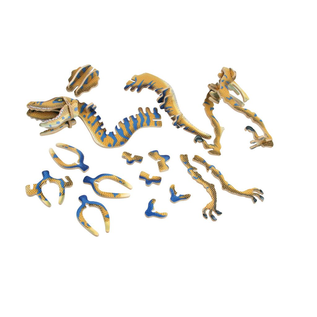 Velociraptor 3D Model Constructie Kit