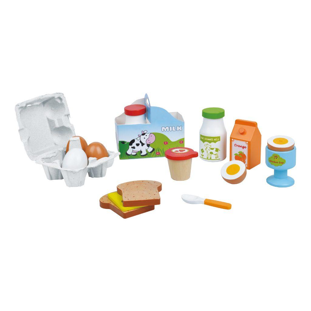 Keuken Hout Speelgoed : Houten Ontbijtset Lelin Toys kopen? ? QIDDIE