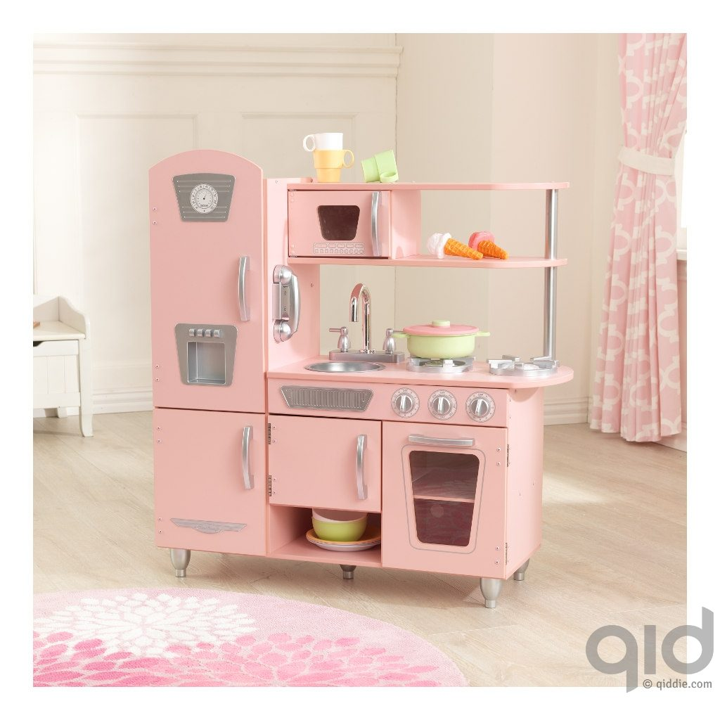 Kidkraft roze vintage keuken kopen qiddie - Witte muur kamer ...