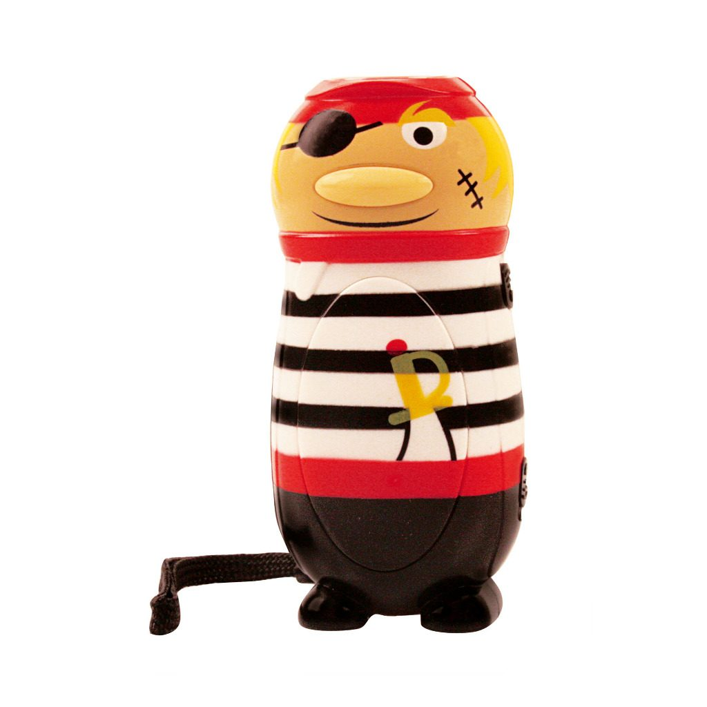 Knijpkat Piraat Streep Zwart Wit Voor Zaklamp Geokids Geok-6146905-zw