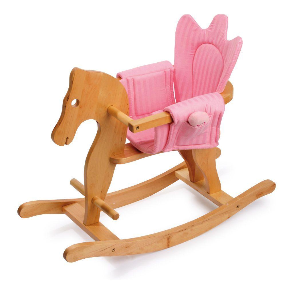 Paardje Met Roze En Blauwe Bekleding