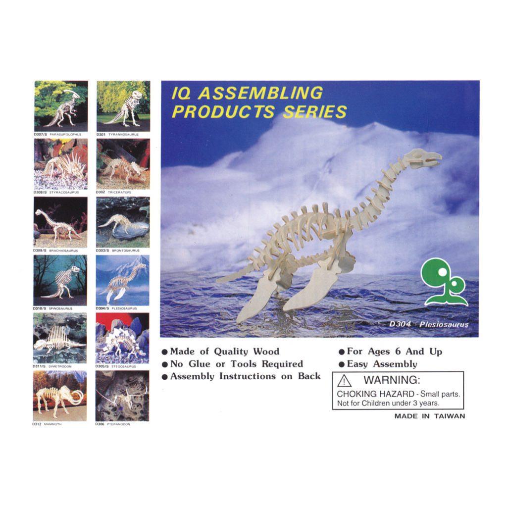 Plesiosaurus Naturel Constructie Kit 3D