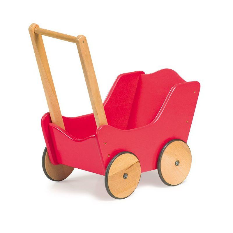 Poppenwagen Hout Roze