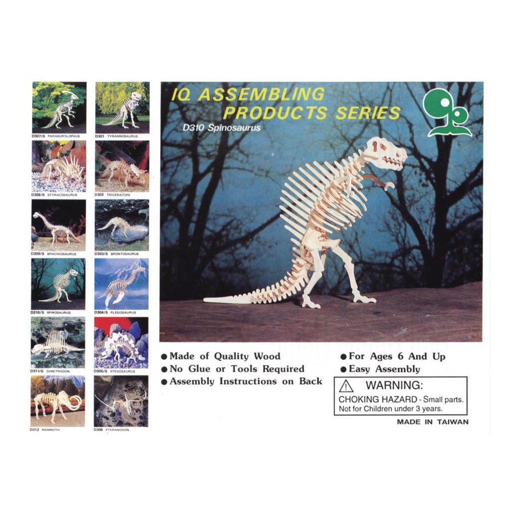 Spinosaurus Naturel Constructie Kit 3D