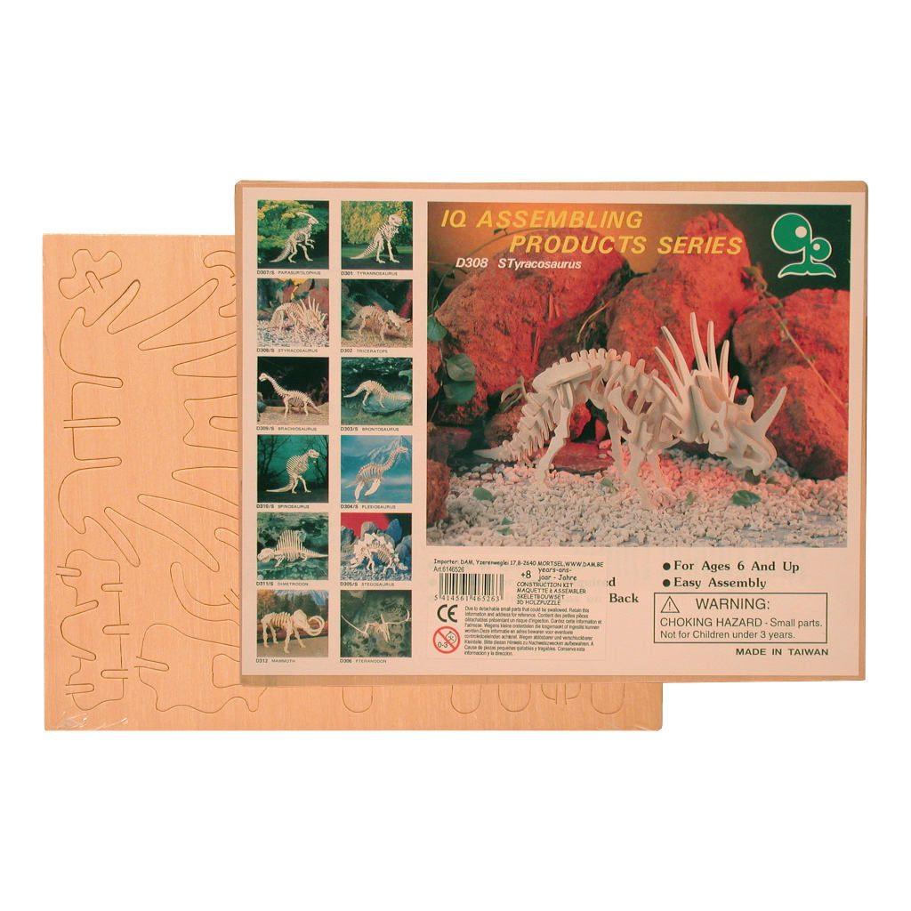 Styracosaurus Naturel Constructie Kit 3D