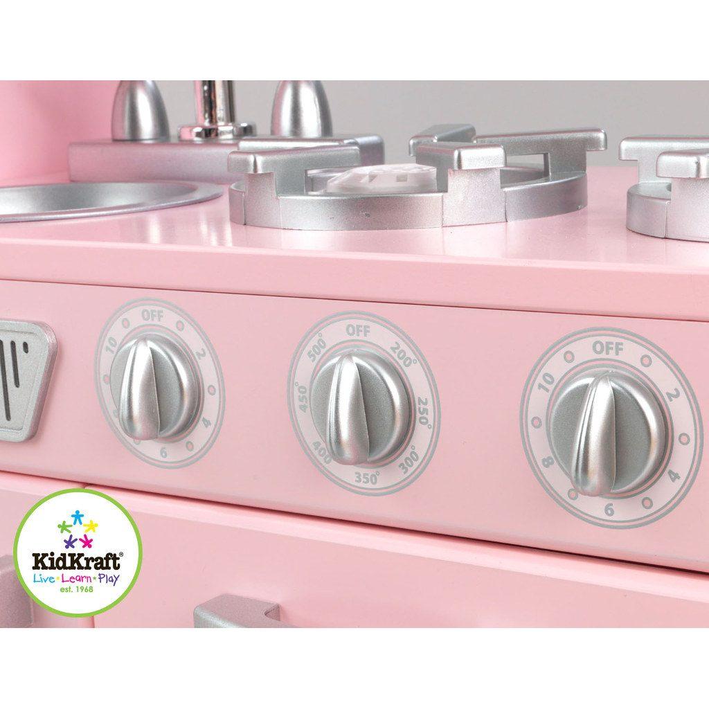 kidkraft roze vintage keuken kopen qiddie. Black Bedroom Furniture Sets. Home Design Ideas
