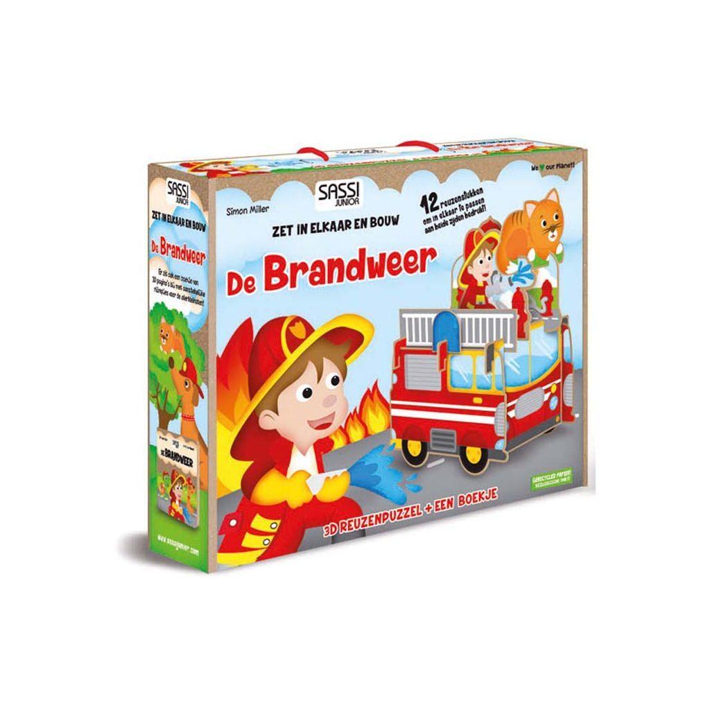 De Brandweer | Boekje + 3D Puzzel