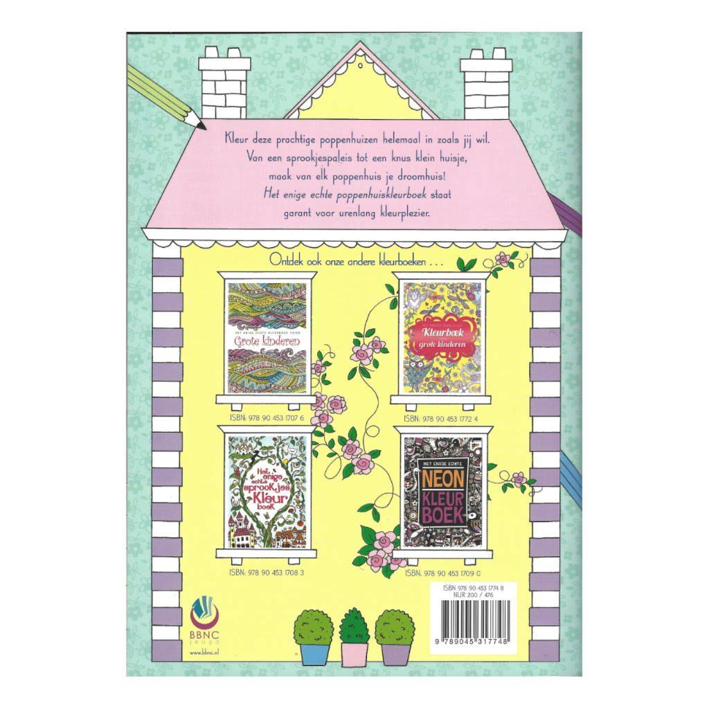 Het Enige Echte Poppenhuiskleurboek 15 Poppenhuis Achterkant Bbnc-25017748