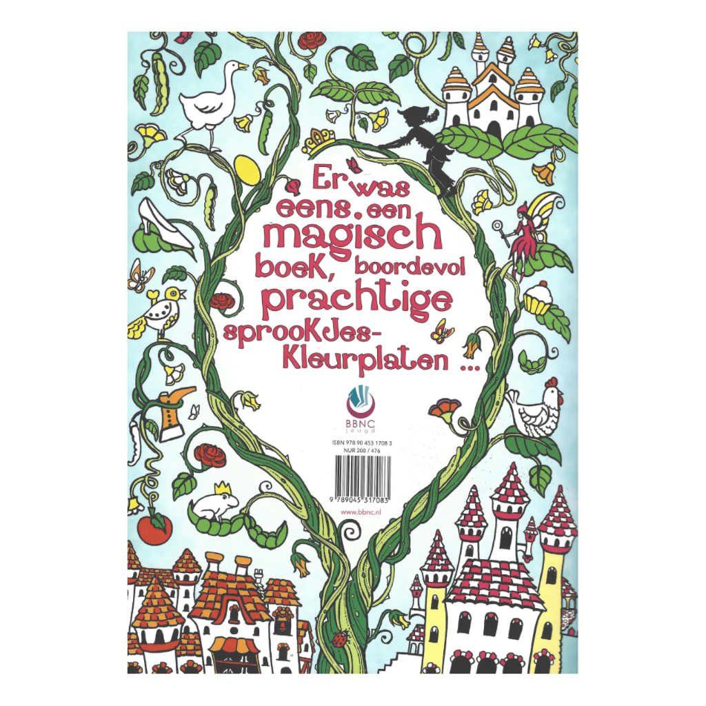 Het Enige Echte Sprookjeskleurboek 20 Verschillende Sprookjes Achterkant Bbnc-25017083