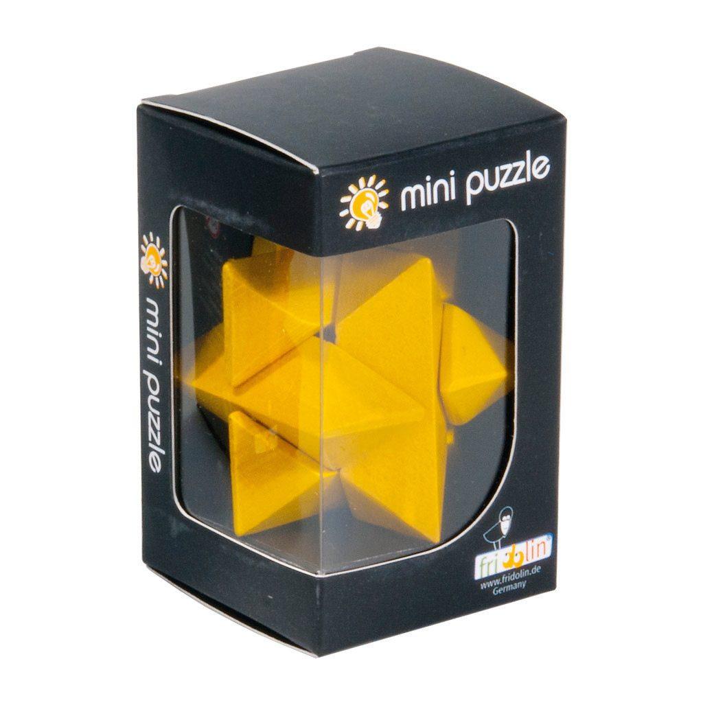 3D Mini Puzzel Van Hout Geel Hersenbreker Doos rizz-17594