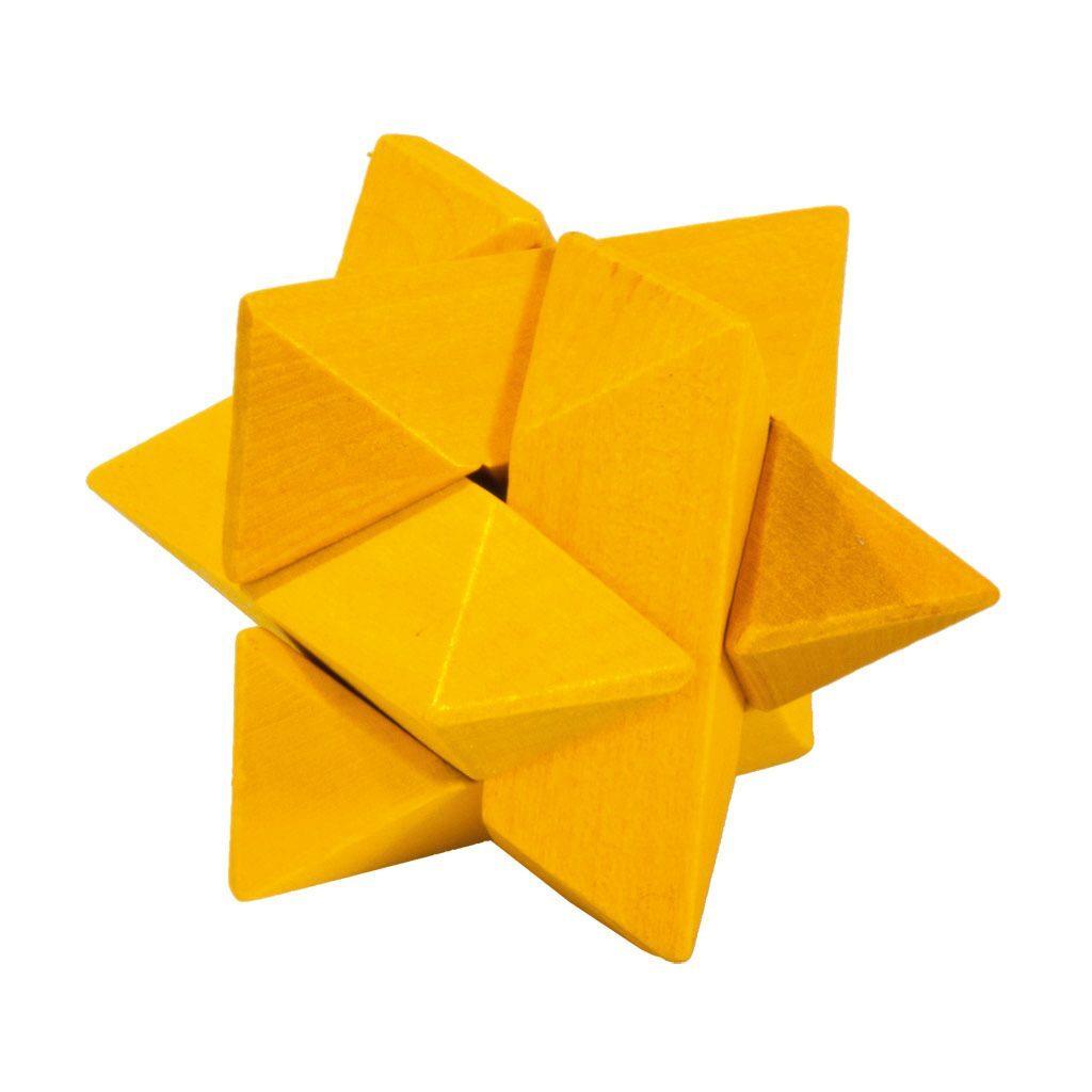 3D Mini Puzzel Van Hout Geel Hersenbreker rizz-17594
