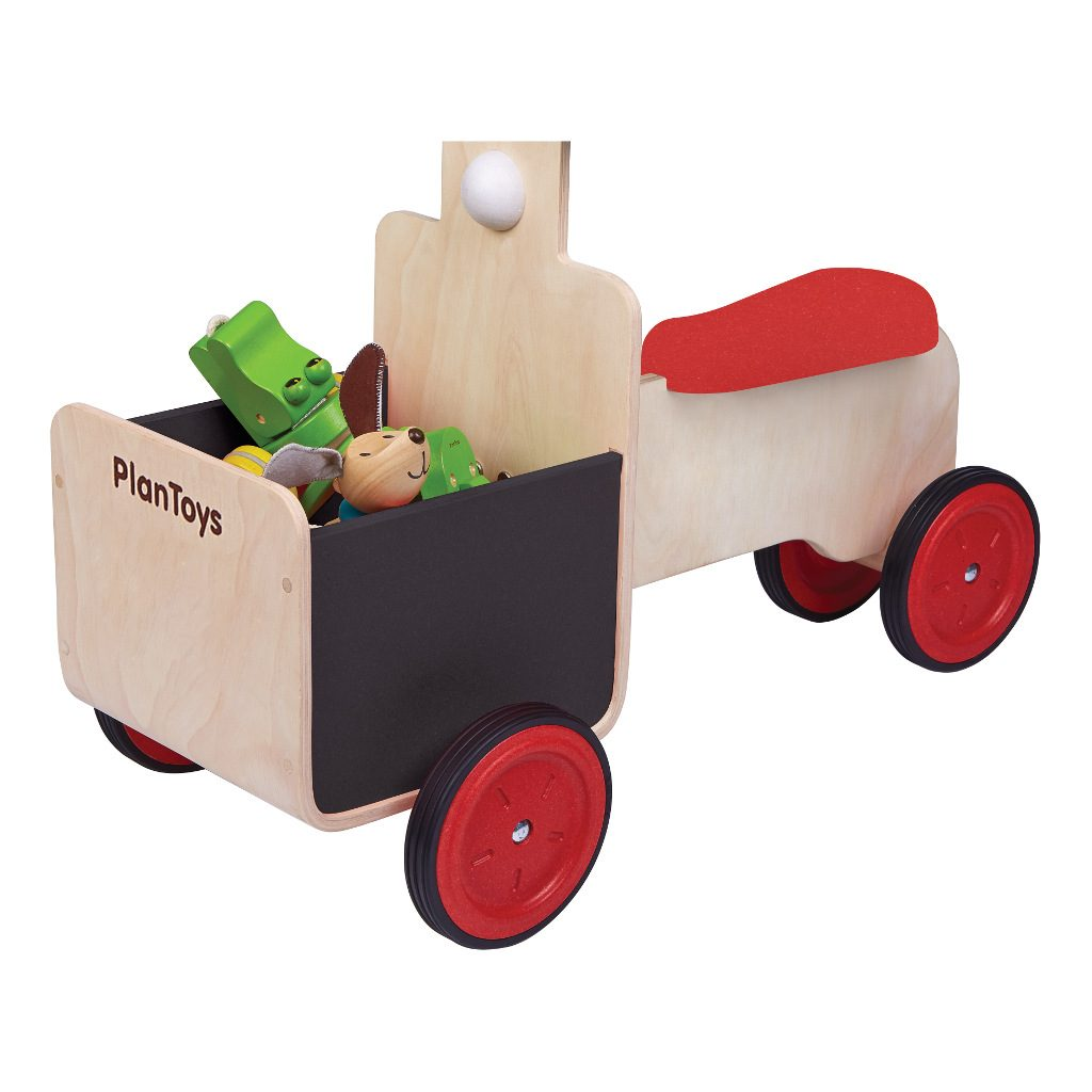 Bakfietsje Met Krijtbord Plan Toys Delivery Bike Laadbak Plan-4003479