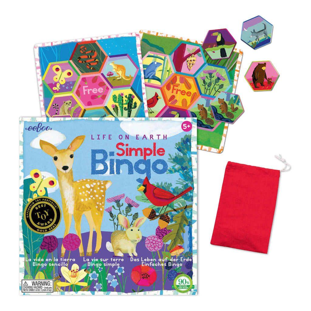 Bingo Spel Life On Earth Eeboo Stevige Stukjes Diertjes Hertje Eebo-9650532