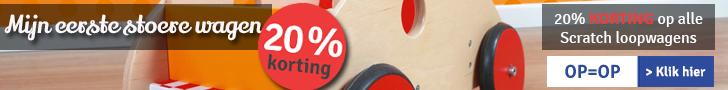 20% KORTING op alle Scratch loopwagens