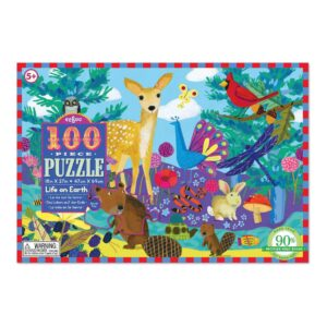 Puzzel 100-Delig Life On Earth Eeboo Stevige Stukjes Puzzel Eebo-9650394
