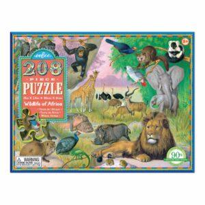 Puzzel 208-Delig Wildlife Of Africa Eeboo Stevige Stukjes Puzzel Eebo-9650463