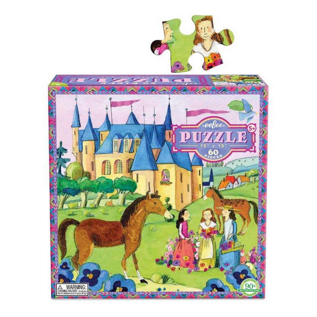 Puzzel 64-Delig Castle Eeboo Stevige Stukjes Puzzel Afbeelding Formaat Puzzelstuk Doos Met Puzzelstuk Eebo-9650441