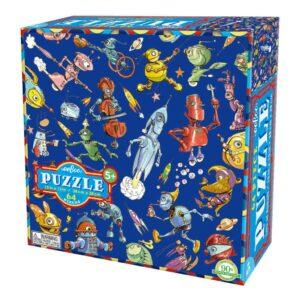 Puzzel 64-Delig Lots Of Robot Eeboo Stevige Stukjes Puzzel Eebo-9650442