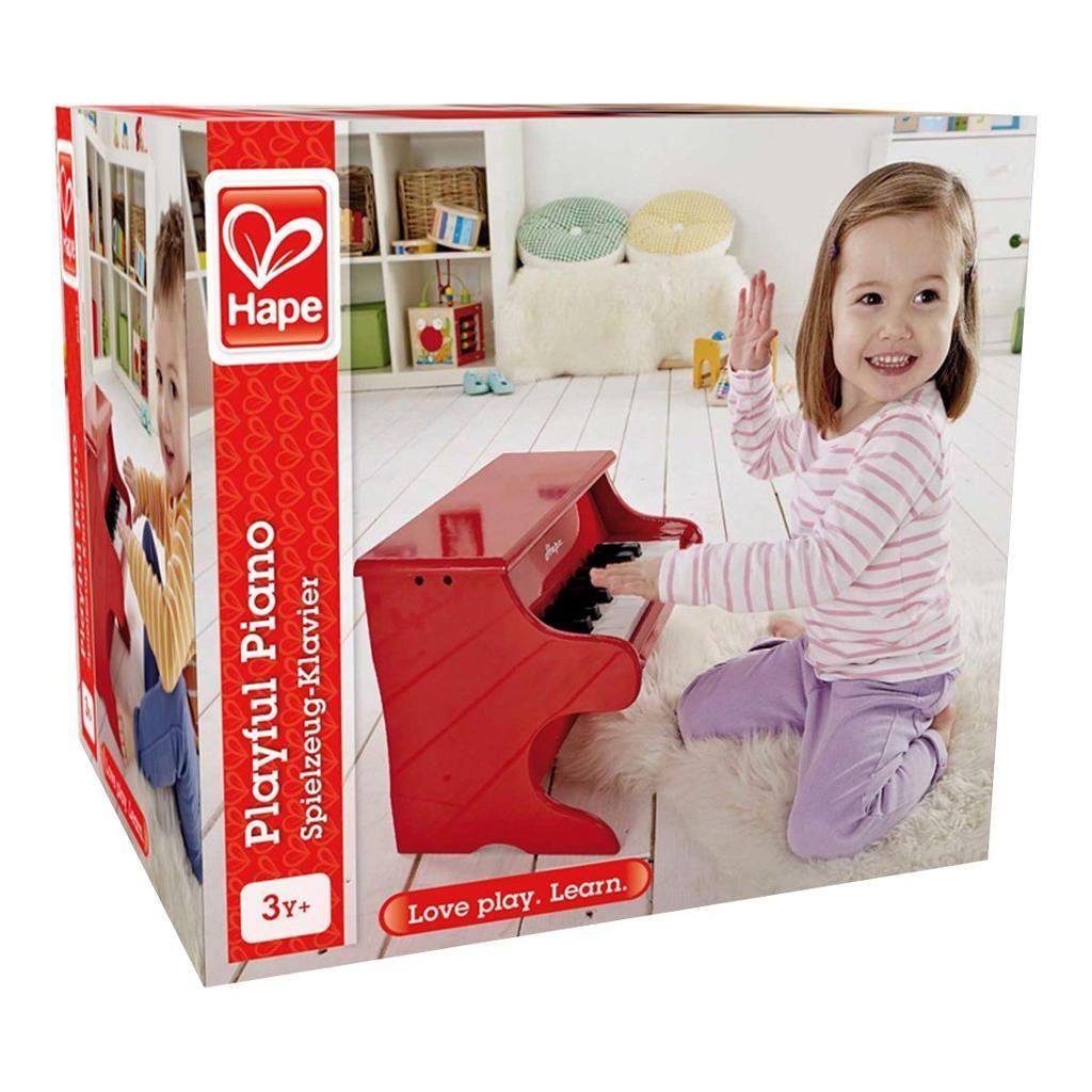 Rood Pianootje Hape Kinderpiano Doos Sier hape-e0318