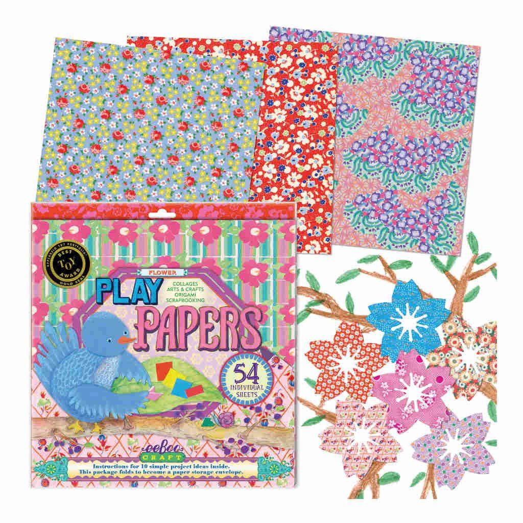 Speelpapier Bloemen Eeboo Inhoud Eebo-9626035