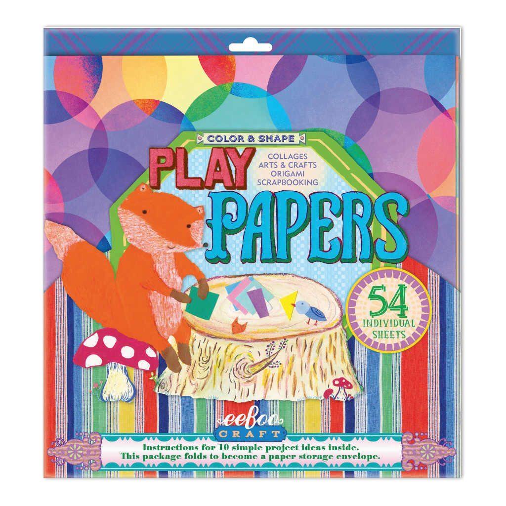 Speelpapier Bloemen Vormen En Kleure Eeboo Eebo-9626103