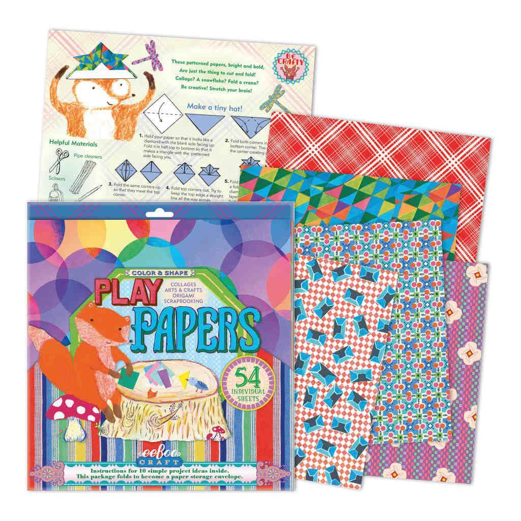 Speelpapier Bloemen Vormen En Kleure Eeboo Inhoud Eebo-9626103